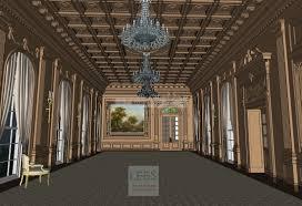 Grand Dining Room Sketch U0026 3d Floorplans 3d Rendering Services