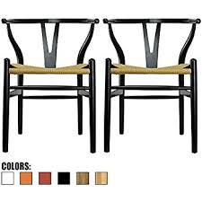 Chair Armchair Amazon Com Baxton Studio Wood Wishbone Y Chair Black Chairs