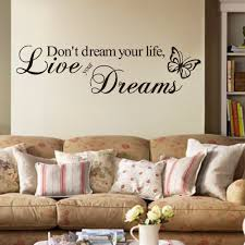 don u0027t dream your life live your dreams wall quote decal vinyl