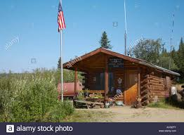 Office In A Shed Us Post Office In Chicken Alaska On The Taylor Highway Between Tok