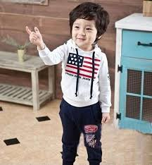 fashion boys clothes sets 2014 american flag design kids clothes