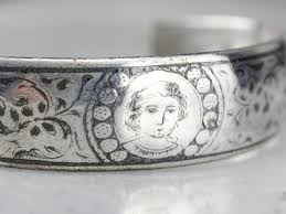 antique sterling silver cuff bracelet images Sterling silver bracelets vintage and antique jpg