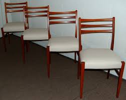 Teak Mid Century Modern Furniture by Set Of Four Swedish Mid Century Modern Teak Dining Chairs For Sale
