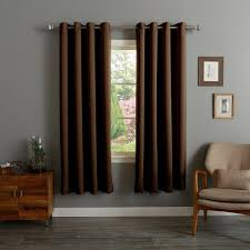 Drapery Liners Grommet Aurora Home Thermal Insulated Blackout Grommet Top 84 Inch Curtain