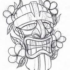 tiki hut drawing google search totem poles pinterest tiki