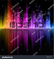 abstract futuristic rainbow lights background poster stock vector