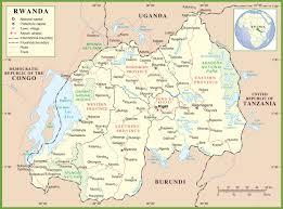 Burundi Map Rwanda Political Map
