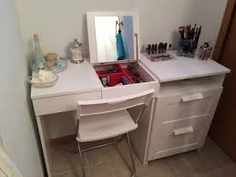 my diy make up vanity using ikea brimne dressing table u0026 drawer