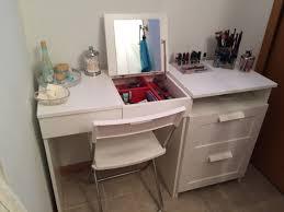 Ecktisch Klein My Diy Make Up Vanity Using Ikea Brimne Dressing Table U0026 Drawer