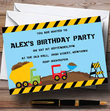 jcb digger construction building theme personalised birthday party