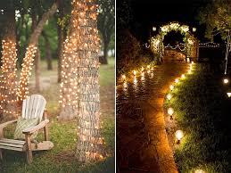 outdoor wedding lighting creative outdoor wedding lighting ideas reception makeovers for a