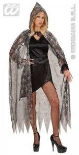 carnival costumes cape cobweb with hood 136cm fancy dress