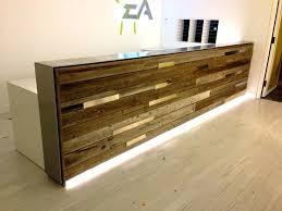 Vintage Salon Reception Desk Desk Diy Wood Reception Desk Wooden Reception Desk Wooden Mallet