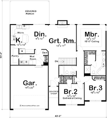 Traditional House Plans 1 Story Traditional House Plan Hadley
