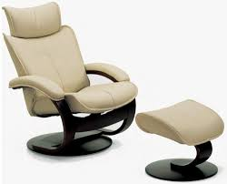 Scandinavian Chairs by Fjords Ona Ergonomic Leather Recliner Chair Ottoman Scandinavian