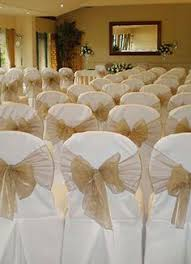 Gold Chair Sashes 50pcs Gold Organza Chair Sashes Wedding Party Decorations Chairs