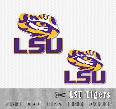 lsu alumni sticker svg lsu tigers louisiana layered logo vector cut file