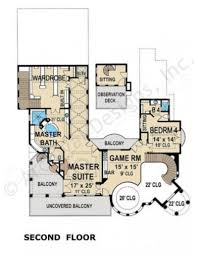Bar Floor Plans by The Venetian Courtyard House Plan Luxury Home Blueprints