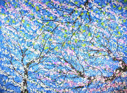 blossom trees saatchi art very large abstract impressionism spring blossom trees