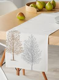 minimalist trees table runner 33 x 180 cm simons maison shop