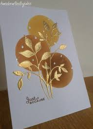 crafted card from crafted by jules gold one layer