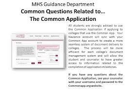 mhs guidance department common questions related to u2026 the common