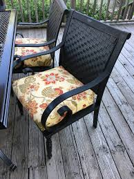 Recover Patio Chairs by Jacobs Family Blog Patio Set Diy Update
