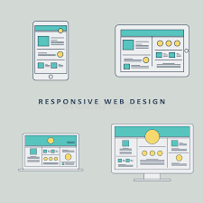 responsive web design layout template responsive web design mockup template vector stock vector