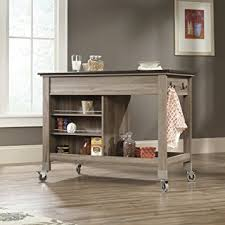 mobile kitchen islands sauder mobile kitchen cart in salt oak kitchen