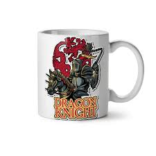 dragon knight fantasy new white tea coffee mug 11 oz wellcoda ebay