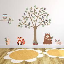 Woodland Animal Nursery Decor by Tribal Woodland Animal Wall Stickers By Parkins Interiors