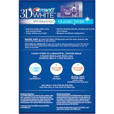 crest 3d white classic vivid whitestrips dental whitening kit 24