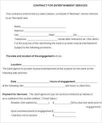 performance contract templates assignment contract form for