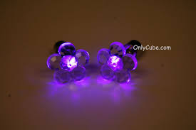 purple stud earrings box fast