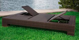 Outdoor Chaise Lounge For Two Living Room Awesome Eliana Outdoor Brown Wicker Chaise Lounge