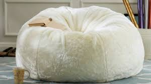 fuzzy bean bag chair on the hunt