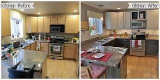 Before And After Kitchen Cabinet Painting Remarkable Kitchen Cabinets Before And After On Intended For
