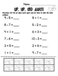 addition and subtraction worksheets counters included