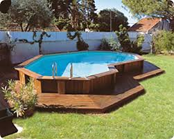 Backyards With Pools 10 Awesome Above Ground Pool Deck Designs