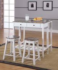 3 piece white u0026 marble or red u0026 natural wood kitchen dinette