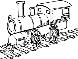 trains are running on the track trains coloring pages