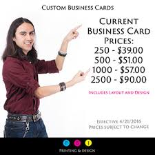 Business Card Design Pricing Business Cards Pbj Printing And Design