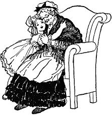 Grandma In Rocking Chair Clipart Grandmother Hugging Grandchild Clipart