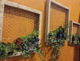diy living succulent picture wall decor