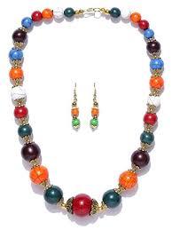 handmade bead necklace designs images Buy prita 39 s designer handicrafted handmade evergreen acrylic jpg
