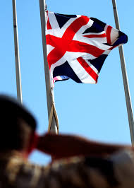 Soldier With Flag File Soldier Salutes Union Jack Flag Mod 45151534 Jpg Wikimedia