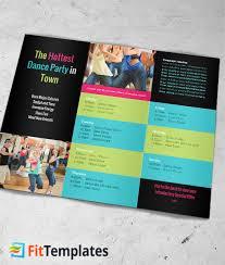 2 fold brochure template fitness tri fold brochure template