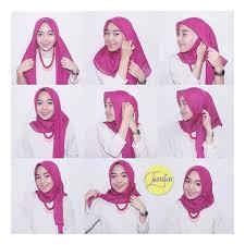 tutorial jilbab segi 4 untuk kebaya cara memakai jilbab segi empat simpel dan mudah