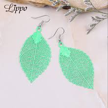 spacer earrings popular big leaf earrings buy cheap big leaf earrings lots from