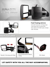 amazon com towing mirrors for ford f150 2007 2014 pair set power